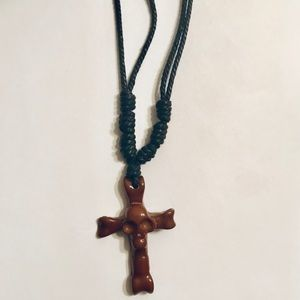 Other - Adjustable skull cross necklace